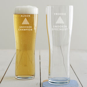 Personalised Snooker Pint Glass - drink & barware