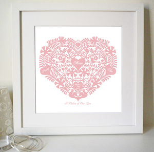 Personalised Mum Heart Print