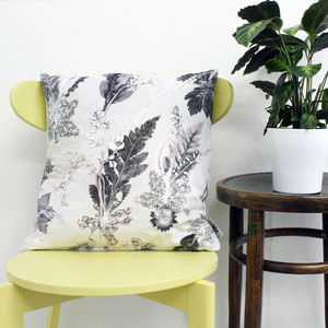 Cool Winter Style Botanical Scatter Cushion - bedroom