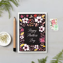 Pink Flowers On Dark Happy Mothers Day Card
