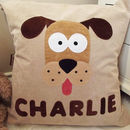 Personalised Digby Dog Cushion