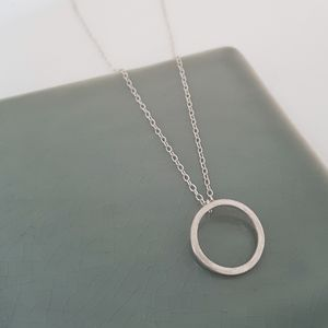 Handmade Silver Circle Necklace