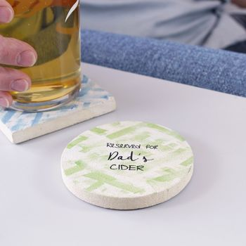 Personalised 'Reserved For' Coaster For Dad