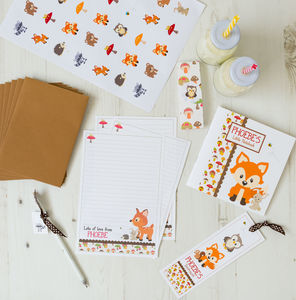 Personalised Woodland Stationery Bundle