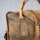 'Markham' Extra Large Vintage Leather Weekend Bag Wax