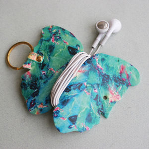 'Neon Marble' Papillon Earbud Holder - summer sale
