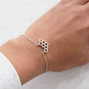 Geometric Honeycomb Bracelet - women's jewellery