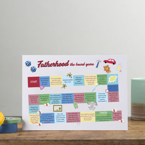 'Fatherhood The Board Game' Funny Card For Dads - father's day cards