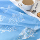 'Collage Fish' Tea Towel