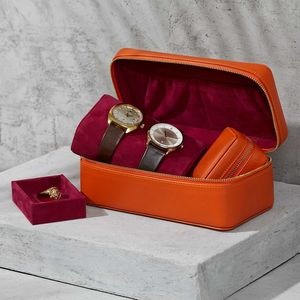 Luxury Leather Watch And Accessories Box For Her