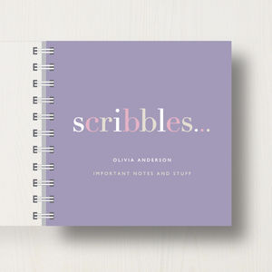Personalised 'Scribbles' Small Notebook