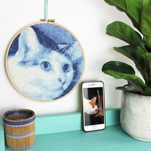 Blue Stitch A Selfie Cross Stitch Kit Stitch Your Favourite Photos