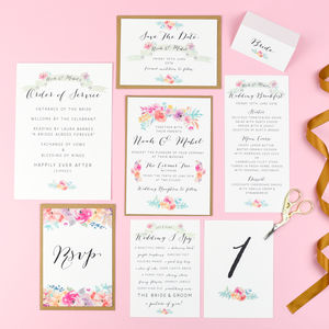 Wildflower Wedding Stationery Range - invitations