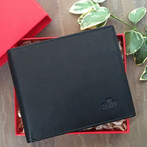 Luxury Black Leather Wallet Rfid Protection