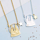 Petite New York Snow Globe Necklace In Gold Or Silver