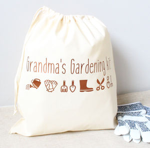 Personalised Gardening Kit Bag - storage