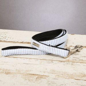The Putney Blue Striped Dog Lead - pets sale
