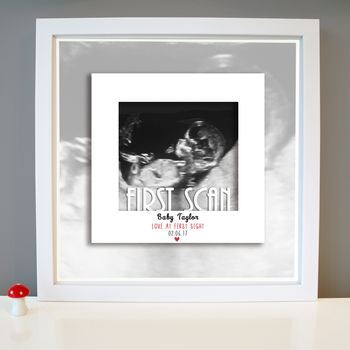 Personalised Baby Scan Announcement Framed Print