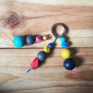 Isoceles Geometric Colour Pop Keychain - black friday sale
