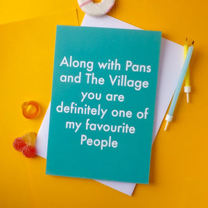 Favourite People Greetings Card