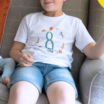 Age 8 T-Shirt For Childrens Birthday Gift