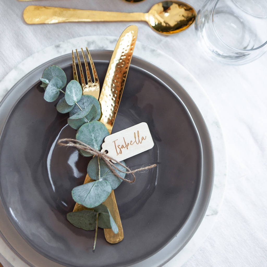 Captivating Personalised Engraved Christmas Place Settings
