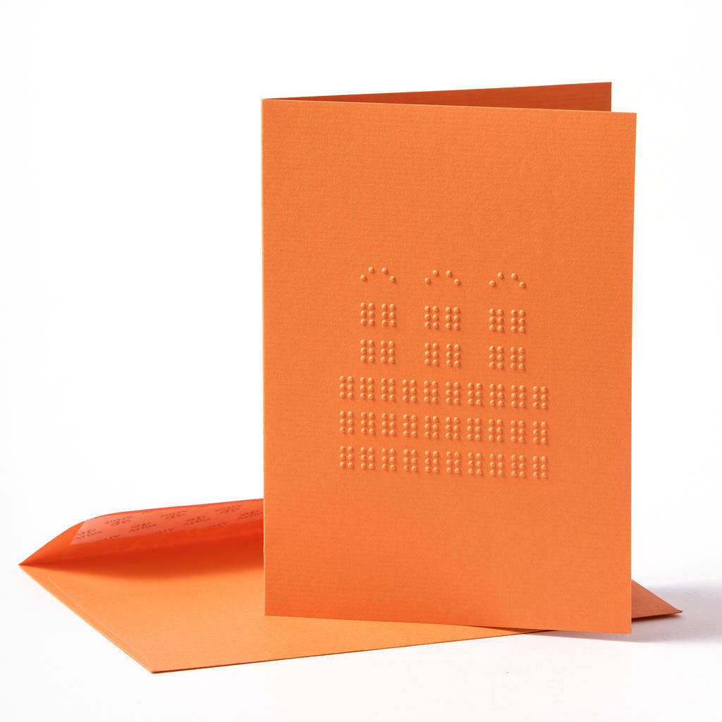Braille Birthday Card