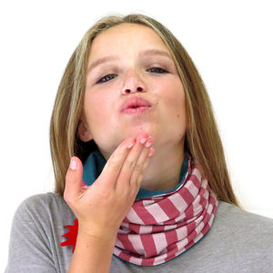 Girl's Reversible Organic Snood - children's scarves