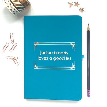 Personalised Foiled Notebook: Bloody Loves A Good List