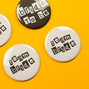 Monochrome Hen Party Badges