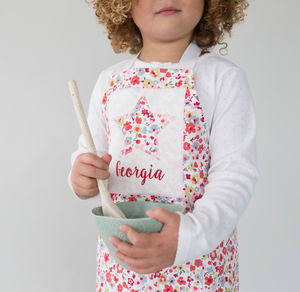 Personalised Handmade Children's Sprig Print Apron