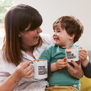 Personalised Cappuccino/Babyccino Mugs - gifts for fathers