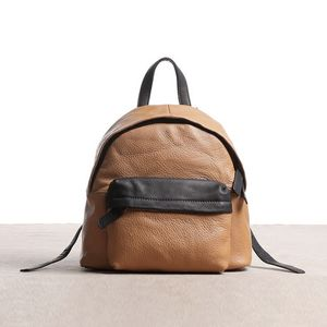Soft Texture Leather Backpack