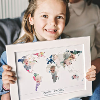 Personalised Mum's World Photo Gift Map