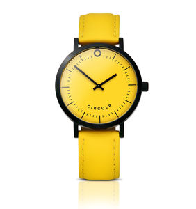 Yellow And Black Watch - men's accessories