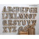 Carnival Letter Lights 'A To Z' Industrial Silver