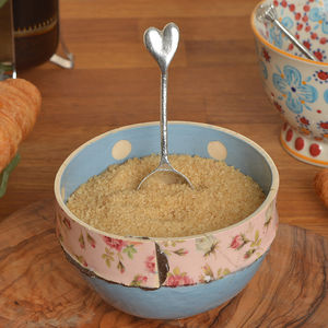 Heart Teaspoon - sugar bowls & cream jugs