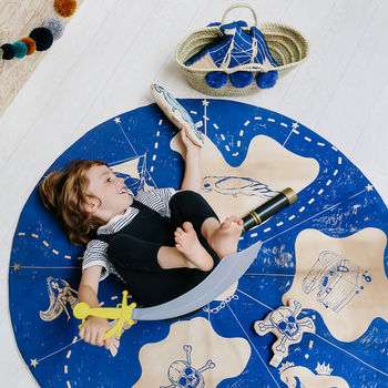 Organic Cotton Treasure Map Play Mat