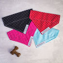 Dog bandana in red, blue, black or pink for girl or boys