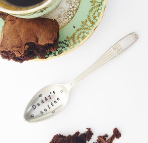 Personalised Silverplated Coffee Spoon - dining room