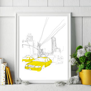 New York City Signed Print