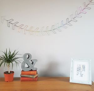 Rainbow Wire Chevron Bunting