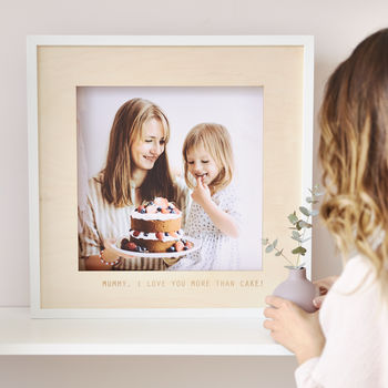 Personalised Wooden Photo Frame For Mum