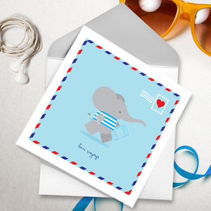 Bon Voyage Greetings Card - leaving cards