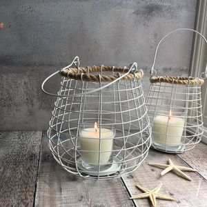 White Nautical Lantern - lights & lanterns