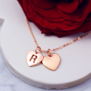 Double Heart Necklace - women's jewellery