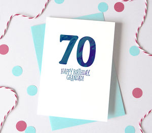 Personalised Watercolour Name And Age Birthday Card