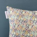 Liberty Print Cushion In Michelle