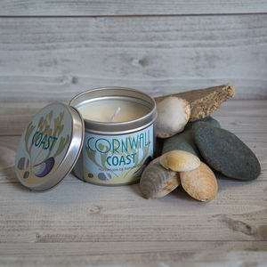 Cornwall Coast Scented Soy Wax Candle Tin