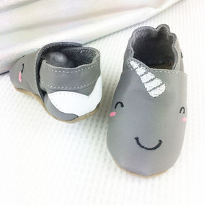 Personalised Narwhal Baby Shoes